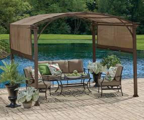TMP Outdoor Furniture Traditional Red Cedar Pergola Arbor Swing Set in 2019  | Manicured Lawn | Pergola, Porch, Backyard