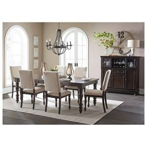 Simple Ideas Solid Wood Dining Room Table And Chairs Sofa 1052 Dk Oak  Glamorous Solid Wood