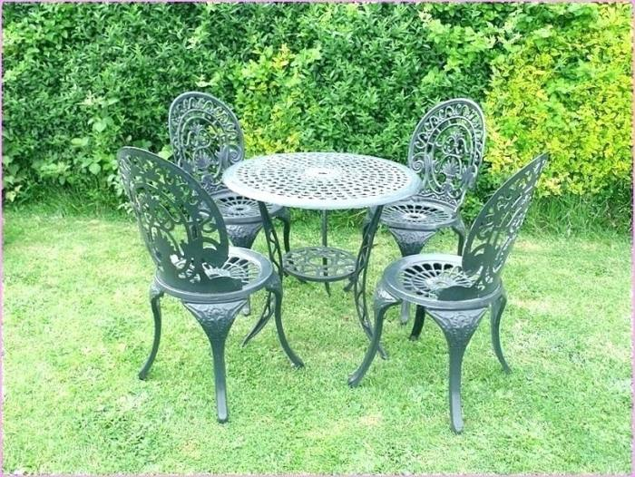 antique iron patio furniture vintage 9 piece  wrought