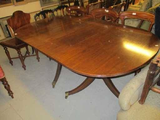 Empire or Regency style round dining  table for sitting up to 8 people
