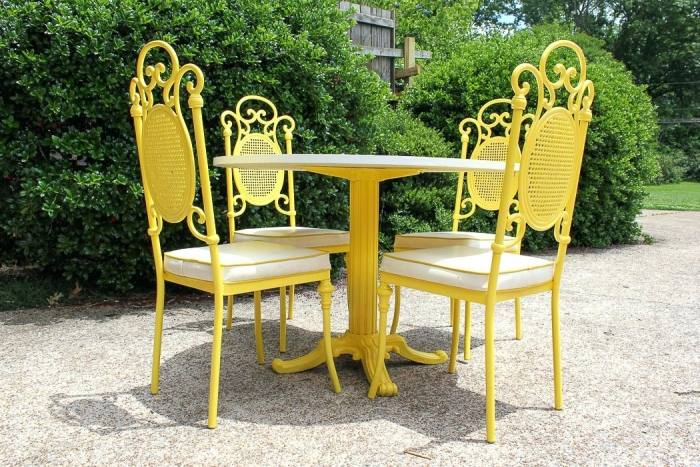 Find out how to clean wrought iron patio furniture