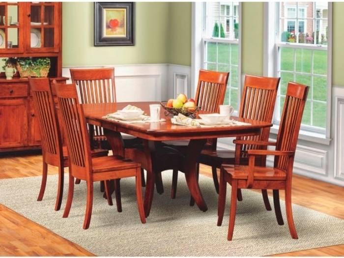 Dining Room Amish Made Furniture Hardwood Dining Room Table Contemporary Dining  Room Sets Dining Room Table