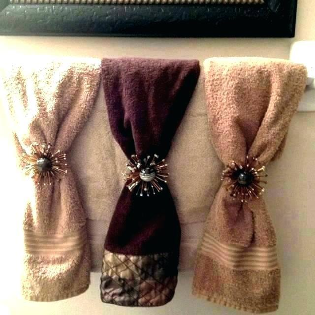 bathroom towel display
