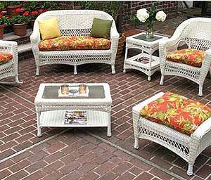 Outdoor A & L Furniture Ladderback Poly 5 Piece 5 ft