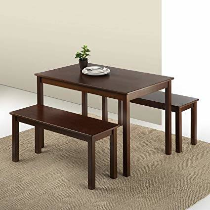amazing 3 piece square casual dining set in antique walnut 2 person table  ideas small two
