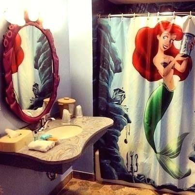 mermaid bathroom decor idea mermaid bathroom decor and kids lovely princess  little shower curtain set collection
