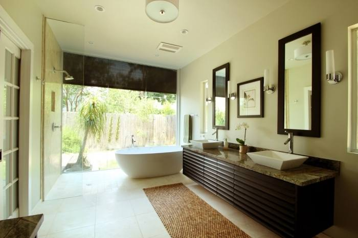 contemporary master bathroom  tile shower ideas