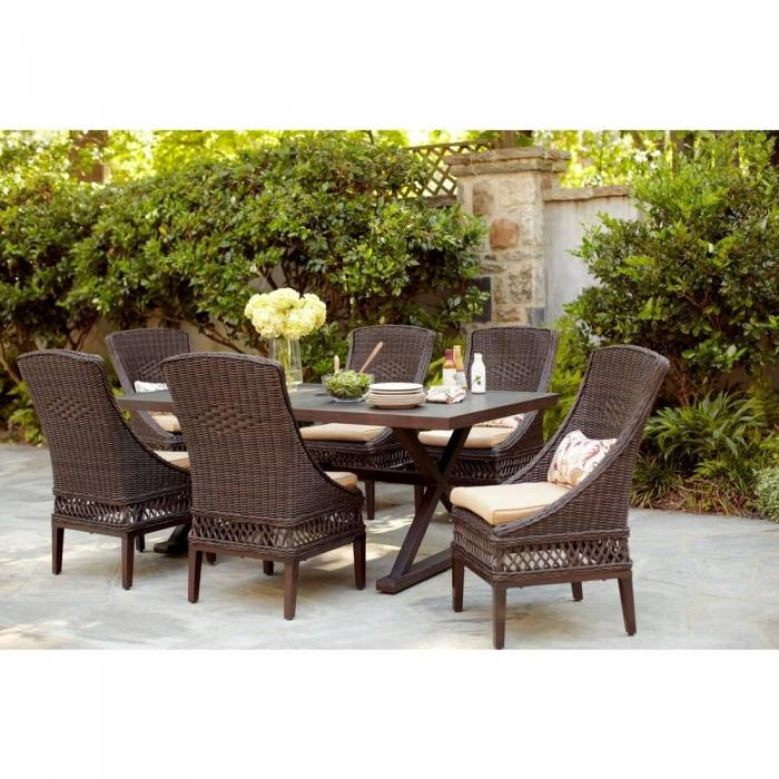 Full size of Corvus Oreanne Outdoor 8 Piece Brown Wicker Sectional Sofa Set  Outdoor Wicker Sectional