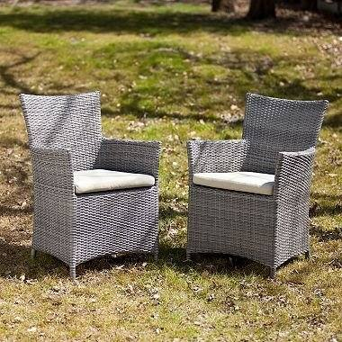 Outdoor 4 Piece Set  Resin Wicker Patio Furniture Chair grey patio cushions