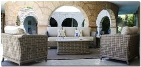 Williams Ski & Patio's patio furniture delivery trucks parked by