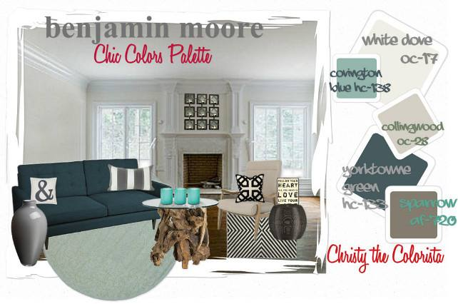 Benjamin Moore Living Room Color Palette