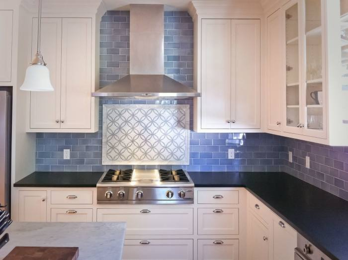 White Subway Tile Backsplash Kitchen Transitional Kitchen Designs Example  Of A Transitional Medium Tone Wood Floor Kitchen Design In White Ceramic  Subway