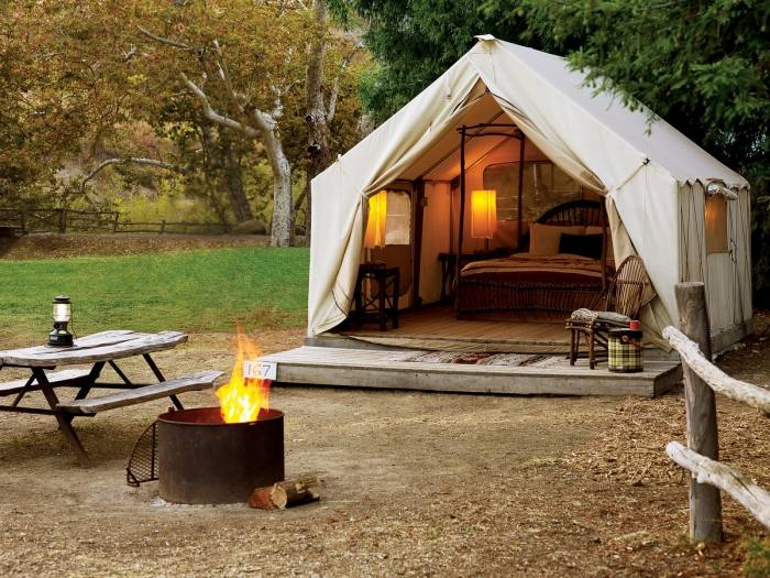 """The Hope Cottage is described as a """"glamping bed and breakfast"""