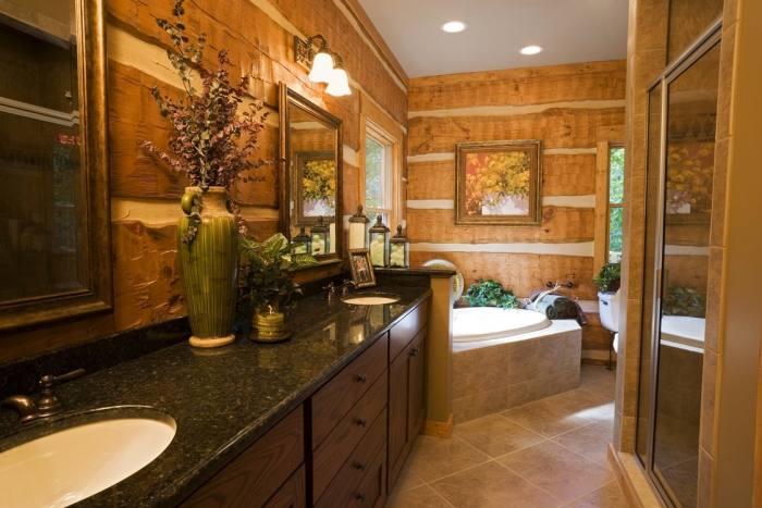 Log Home Bathroom Designs 6 Lofty Design Ideas Rustic Cabin Bathrooms