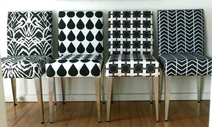 Upholstered Parsons Dining Chair Terra Blades Design Black Fabric Rolled  Back Parson Covers Metal Table Set Looking For Room Chairs Zebra Print  Armchair