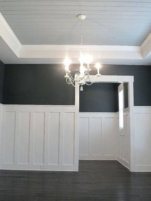 Tall Wainscoting with Double stacked Inner Panel