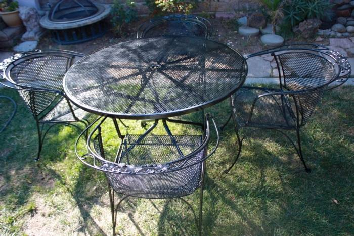 Briarwood Wrought Iron Patio Furniture Incredible Woodard Set Refinish The Kienandsweet In 8