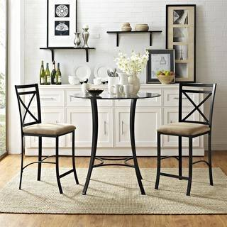 Picture of Kelly 3 Piece Dining Set with Drop Leaf Table and 2 Chairs