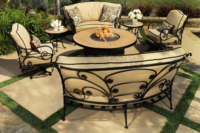 fire pits by ow lee outdoor furniture used patio o w