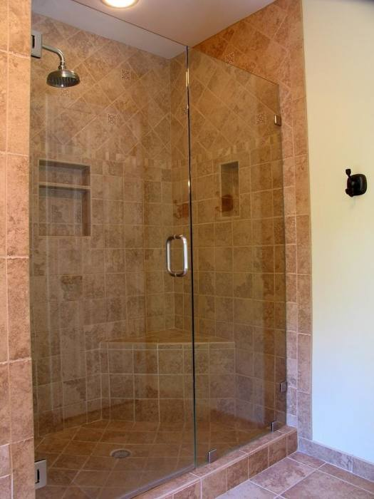 bathroom stand up shower designs
