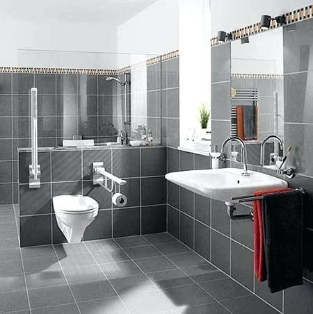Grey modern wet room with metro tiles | Bathroom decorating | Ideal Home |  Housetohome