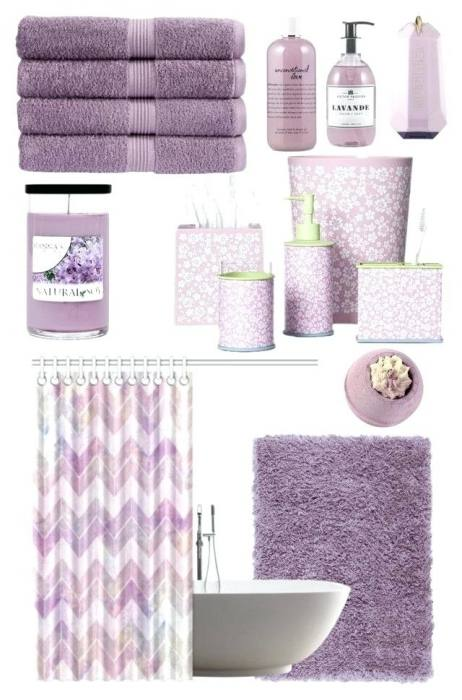 purple and grey bathroom lavender decor accessories wall d